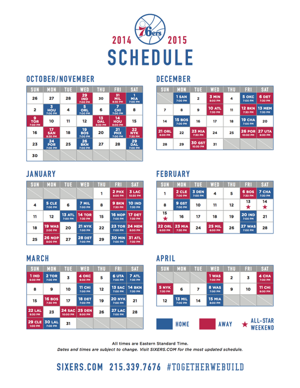 picture regarding 76ers Printable Schedule known as Philadelphia 76ers upon Twitter: \
