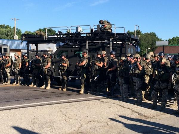 Scene right now just blocks from where #mikebrown was shot. #ferguson http://t.co/gCBXsY0CvN