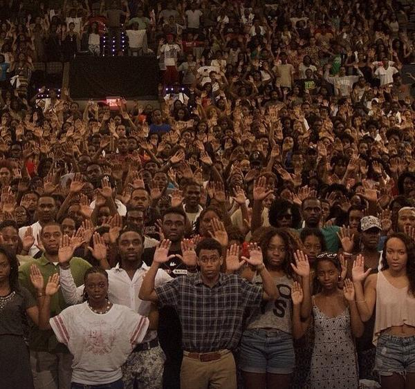 """@attorneycrump: Such a powerful image from the student of Howard University. #MichaelBrown http://t.co/H4c5fHHlJM"""