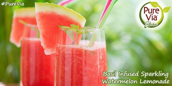 Keep a cool head w/ a healthy drink like #PureVia Basil Infused Sparkling Watermelon Lemonade! http://t.co/TYO94elMp4 http://t.co/fwGKmZMrrg