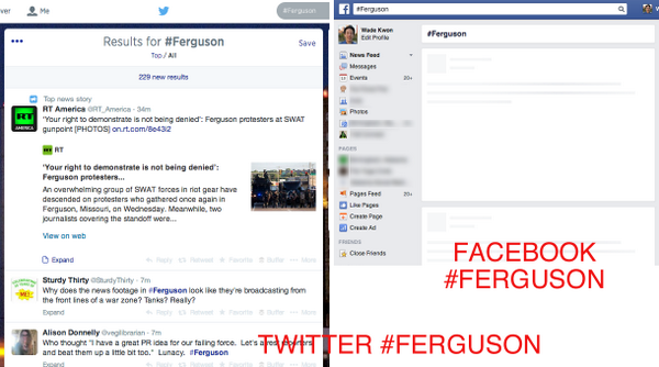 Why Twitter matters in breaking news about #Ferguson vs. Facebook. http://t.co/k8AcNClcFG