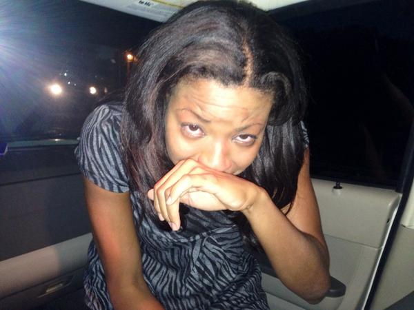 My face after tear gas. Stinging, eyes watering. I'm not getting out of this car. #ferguson #mikebrown http://t.co/ALIVdhzlXa