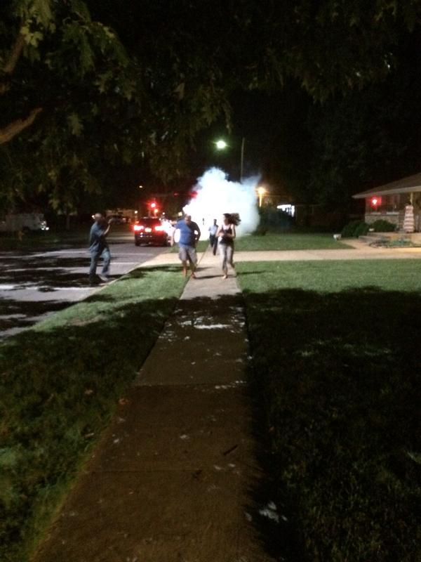 Just saw teargas land right at feet of al-Jazeera America camera crew. They say they were also shot at http://t.co/tbMSlENDlV