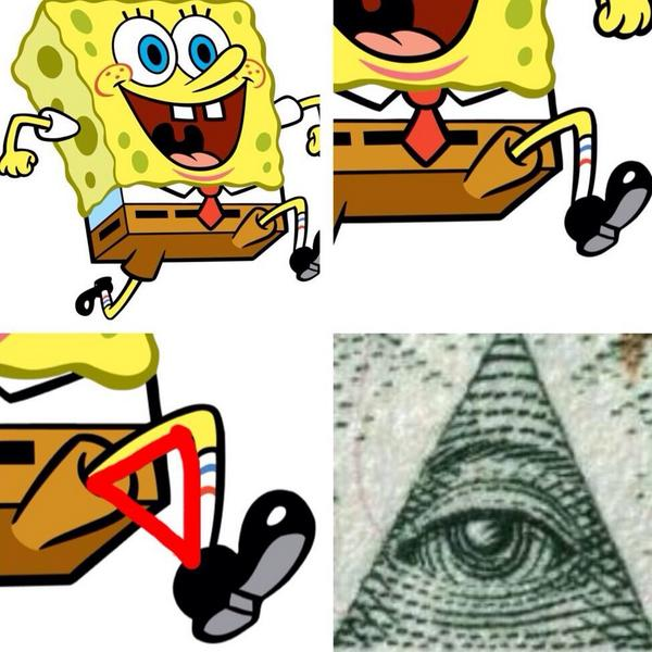 "THE ILLUMINATI on Twitter: ""SPONGEBOB SQUAREPANTS MORE LIKE SPONGEBOB ... Illuminati Signs In Spongebob"