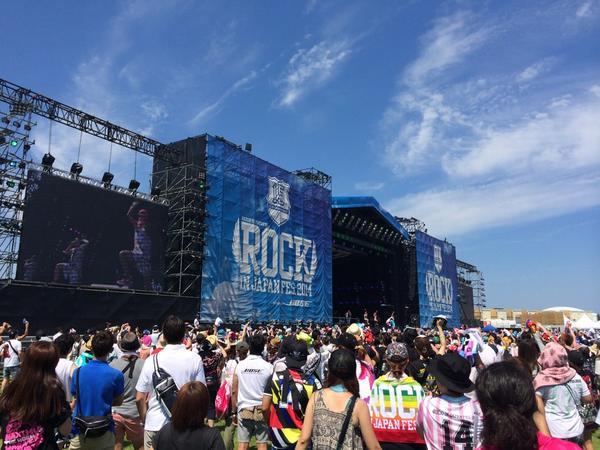 熱い夏をもっともっと熱くするイベント「ROCK IN JAPAN FES. 2014」  今年もこの季節がやって来ました( ´ ▽ ` )ノ  各ステージでは熱く熱くより熱くこの地鳴り鳥肌が立ちすぎる(>人<;) http://t.co/nAs23p7xCX
