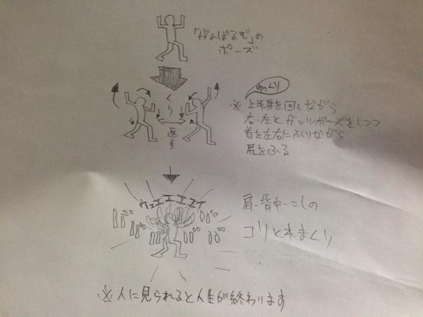 動画はよ RT @toyoshimax メモ: RT @GoITO: RT @Enbos: 最近整体師の人に背中周辺のコリを一発でとる体操教えてもらったんだけど、やってるところが完全にキチガイでつらい。  だがマジですごい効果ある。http://t.co/hCNfjOVj0U