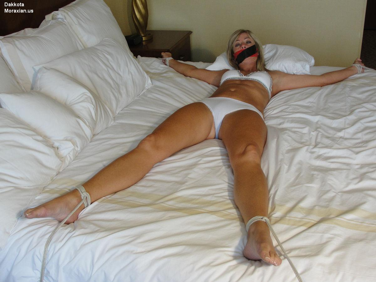 Mature strapped to bed and assfucked 3