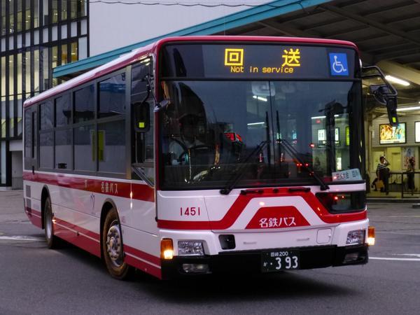本日より稼働開始しました。新型エアロスター  1451(QKG-MP38FMF・2014年7月式)  新型エアロスターの稼働開始は、名鉄バスが最初だそうです http://t.co/2oUBfbFyqC