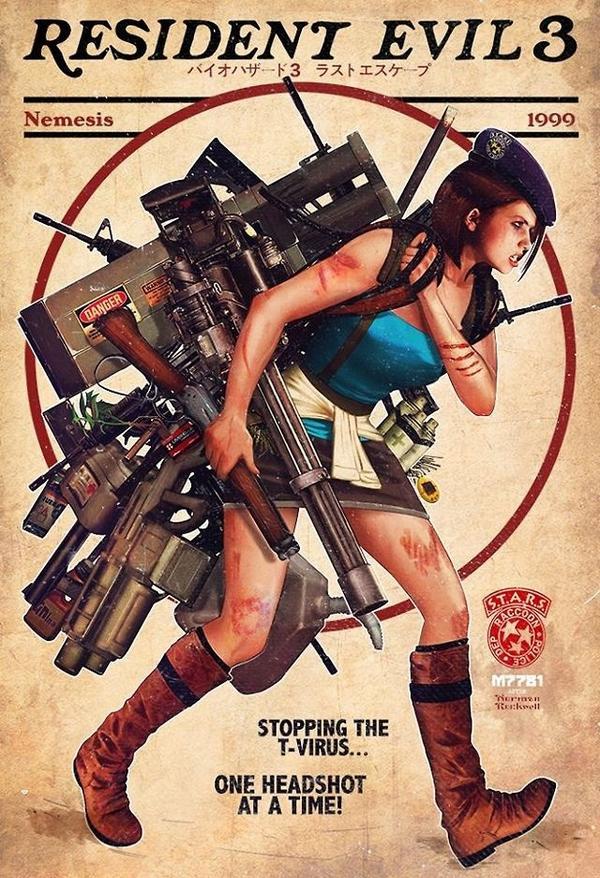 El macuto de Jill en Resident Evil 3