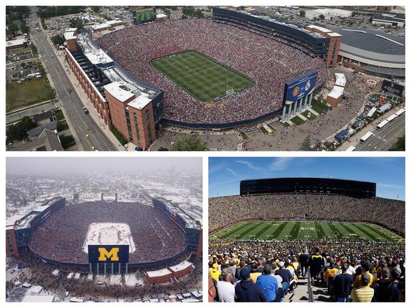 """Proud to call home the city that has hosted the largest hockey, football & soccer crowds in USA Well done #AnnArbor http://t.co/9yTRzZWgg9"""""""