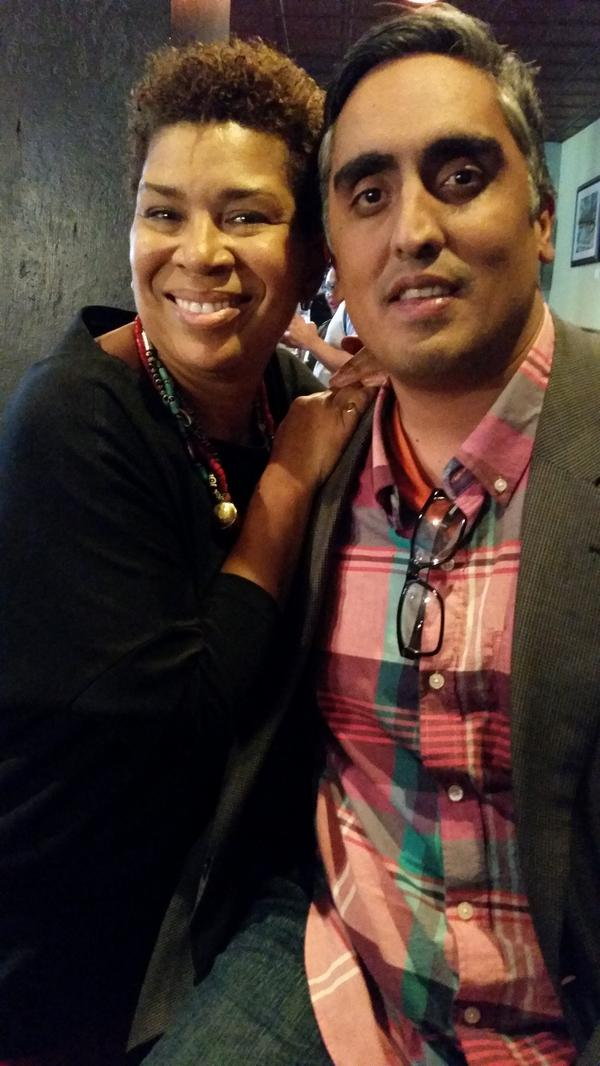 NPR FINALE: With National Public Radio host @NPRMichel after our final taping of @NPR Barbershop after 300 episodes http://t.co/cFD91aJS08