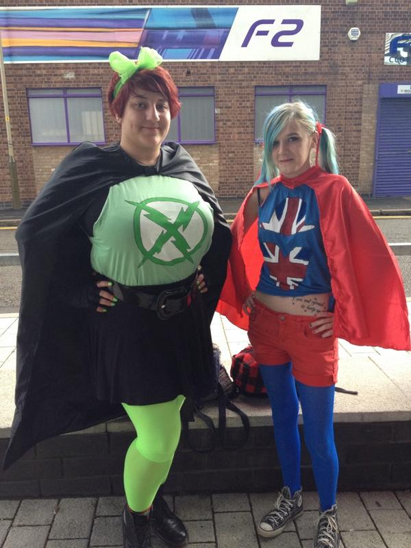 """Chris-mas Beadle on Twitter: """"@GavinFree @AH_BrownMan X-ray and Vav CosPlay at #RvBUK 2014 in Leicester. It's been a great weekend! http://t.co/qDFCrS3V34"""""""