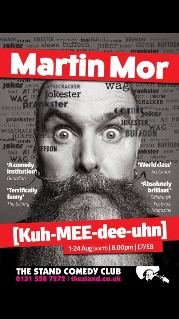 RT @MartinMorComedy: About to do the 7th performance of [kuh-MEE-dee-uhn] So far no two of them have been the same!  #edfringe http://t.co/…
