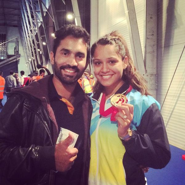 """@DipikaPallikal: So glad I could have my man with me on such a magical day! @DineshKarthik http://t.co/EB3vQbN7NY""- So proud of her :)"