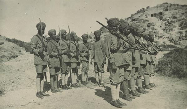 21st Indian Battery Guard, camped at No1 Outpost #ANZAC @SikhsAtWar @1914Sikhs @Gallipoli100 #Gallipoli http://t.co/JA07o2R3Cv
