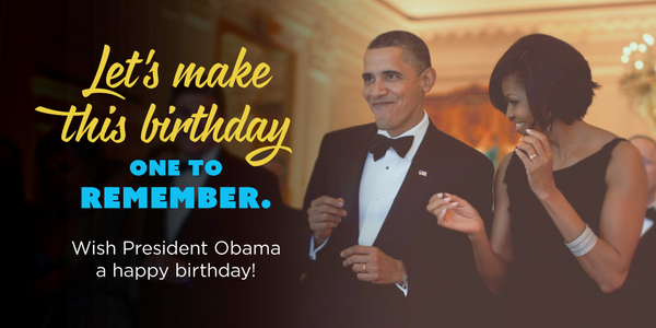 Barack Obama On Twitter Sign Your Name To Ofas Birthday Card And
