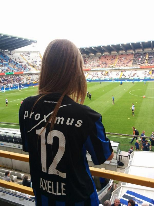 Belgium World Cup fan Axelle Despiegelaere treated like A lister by Club Brugge [Pictures]