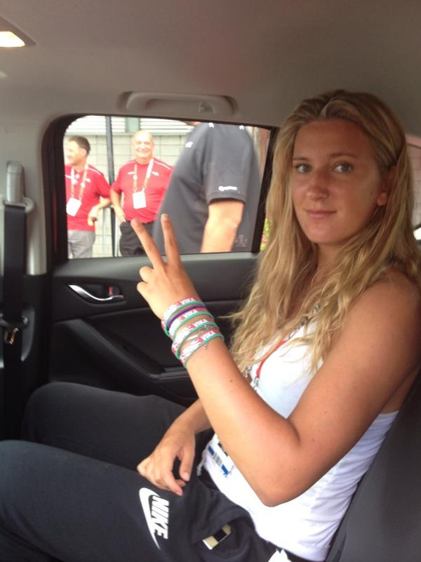 .@vika7 rocking not one, but four #TeamVika  bracelets! #CoupeRogers http://t.co/gUQhN5Gi2Q