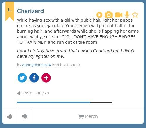Charizard urban dictionary