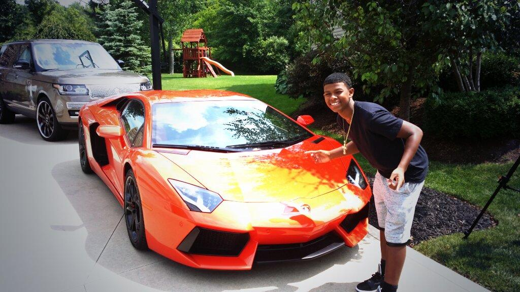 Photo of Deion Sanders  - car