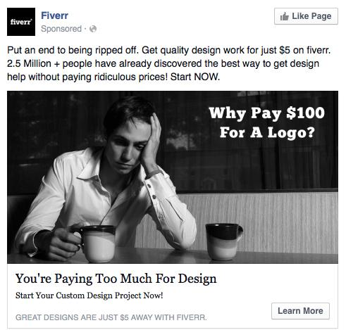 Wow, @fiverr… terrible message to be spreading in our industry. Via @zombiebacons. http://t.co/ekQZRe0biW