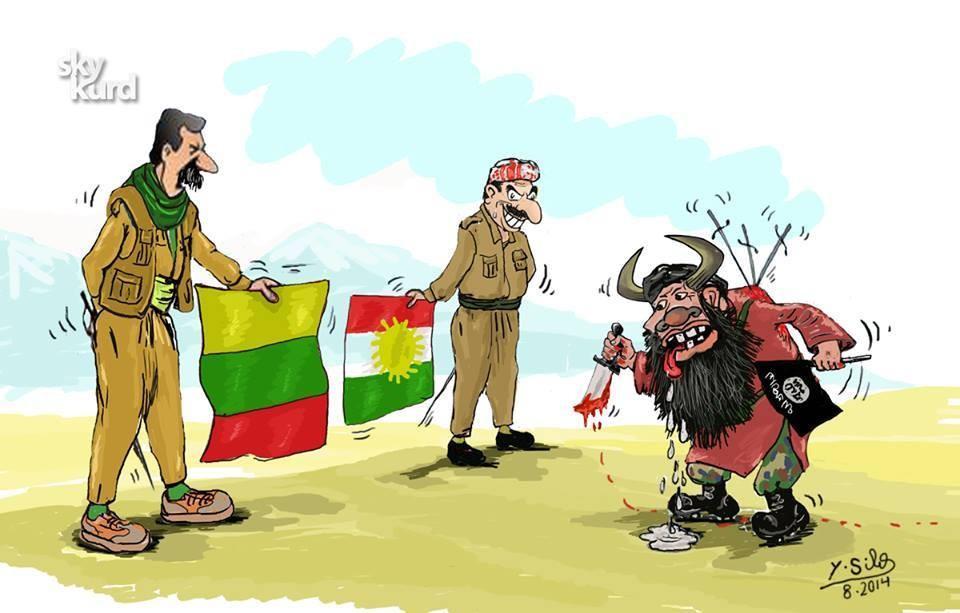 YPG-KDP İŞİD'e Karşı