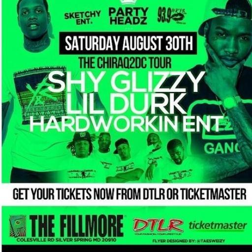 S/O the young homies @hardworkinent ...will.be rocking the Filmore Aug 30th with lil Durk and Shy Glizzy #HardWorkin http://t.co/s94X7yozQF