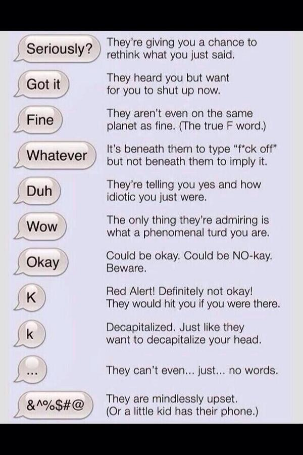 what guys say and what they actually mean