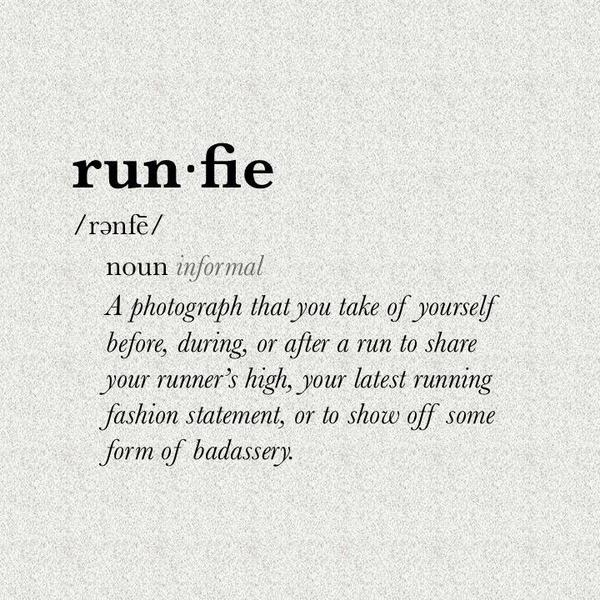 """@RunnerBliss: No, just 'selfie', let's not -fie everything, please... RT @runningitch: #runfie #running http://t.co/sp5um2KHGH"" @bellaml :)"