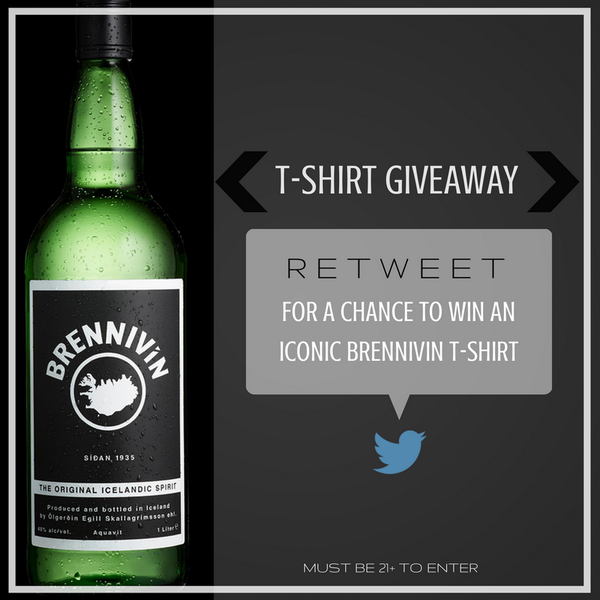 Retweet for a chance to win a t-shirt from @BrennivinUSA and celebrate its expansion into the US market! http://t.co/Amy0w5mMHN