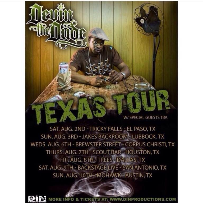 Devin the Dude & Philly Phill tour 08/01 to 08/10/14