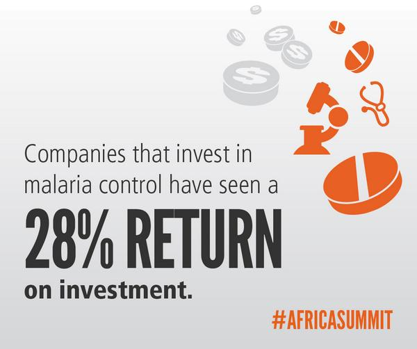 #Malaria investments = healthy people, businesses, and economies. #AfricaSummit #USAfrica @USAID @rajshah http://t.co/2rIIidXiJm