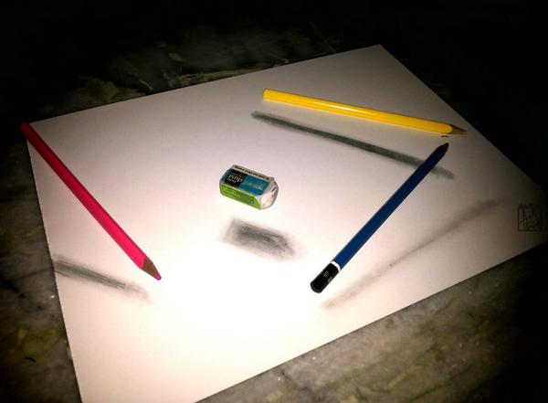 Amazing drawings on twitter incredible 3d illusive drawing on a flat paper http t co hrgl3ucwqy