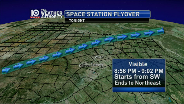 (535) Looking for something cool to do tonight? Check out the Space Station in the sky! (Times for Waco) #CTXwx #TXwx http://t.co/gJew23PRiq