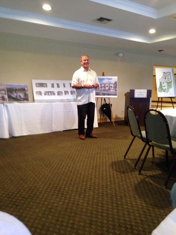 Excitement here at Country Club of #Coral Springs: Bernie Moyle is presenting his dream to improve our community! http://t.co/CMApNKDG76