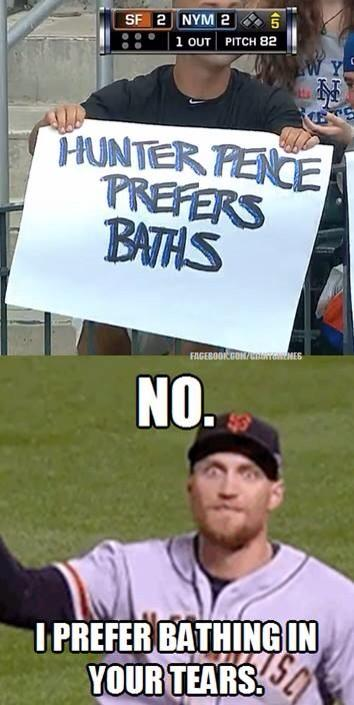 I'm pretty sure this is a real @hunterpence response to the sign trolls in NY. Mmmm your tears of sorrow. Delicious. http://t.co/UJcdVsFzht