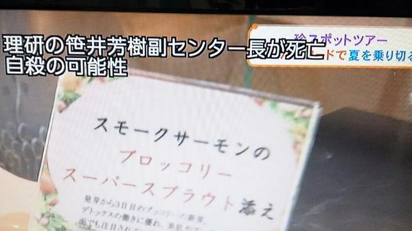 ニュース速報より 理研の笹井副センター長死亡とのこと。自殺らしい? http://t.co/fwMbyHv79i