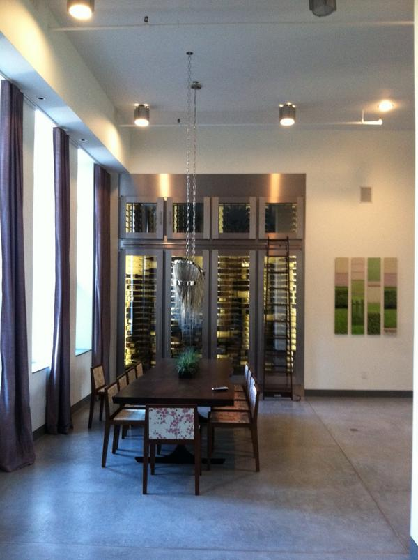 NYC #wine storage. Modern and clean. http://t.co/mv6BgSONps