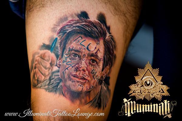 Illuminati Tattoo On Twitter Full Color JimCarrey Portrait Scene From LiarLiar By The Talented Rafadekanvis Tco WEzGPFFMmc