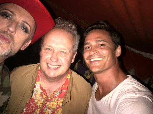 Team photo at @CampBestival with the legend Terry Farley and @BoyGeorge http://t.co/6vSzZf6BCp