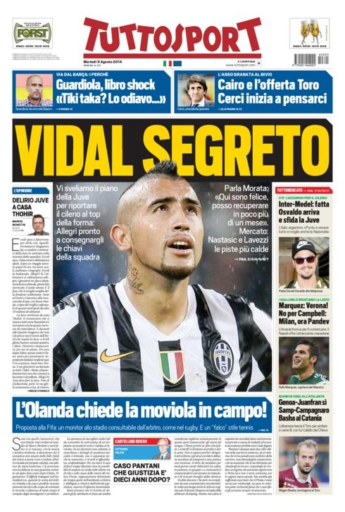 Juventus secret plan to get Man United target Arturo Vidal fit for the season [Tuttosport]
