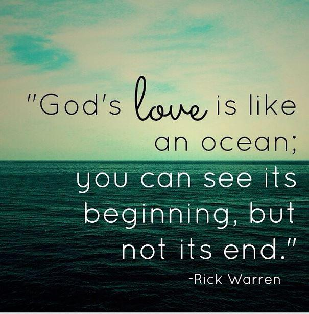 "Quotes About The Ocean And Love: Rick Warren On Twitter: ""God's Love Is Like An Ocean. You"