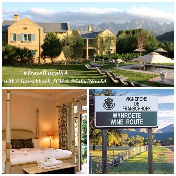 #TravelLocalSA GIVEAWAY8: @franschhoek_FCH via @SafariNowSA  Value: R7460! | to Enter Draw: FOLLOW Both, RT or REPLY http://t.co/ItpyN7cWMN