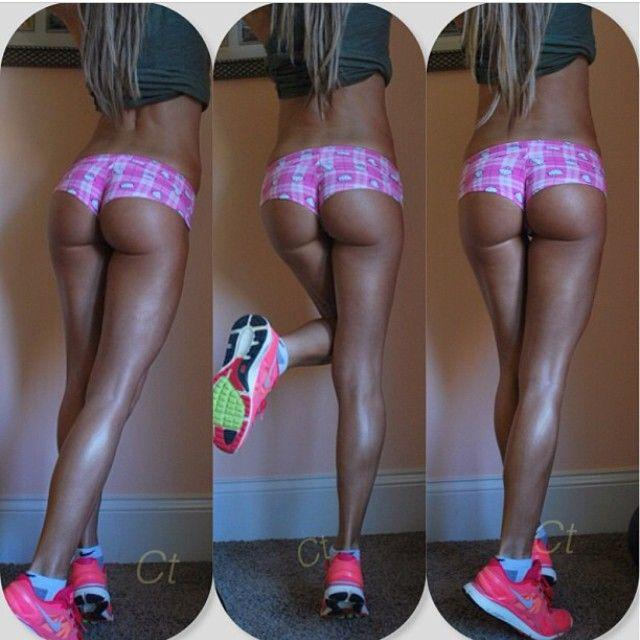 Hottest fitness girl squat outdoor