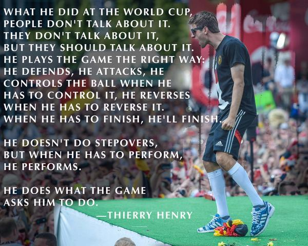 Thierry Henry on Thomas Müller. http://t.co/25HMVLq6Uw