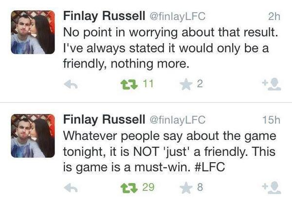 Doh! Liverpool fan quits Twitter for contradictory tweets after friendly defeat to Man United