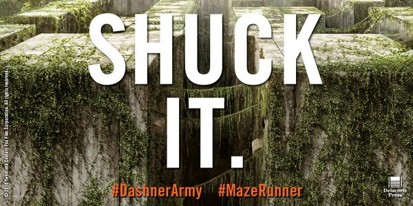 45 days until #MazeRunner hits theaters, but you can read it now! Why wait? @JamesDashner @MazeRunnerMovie http://t.co/oyeXmA0DA1