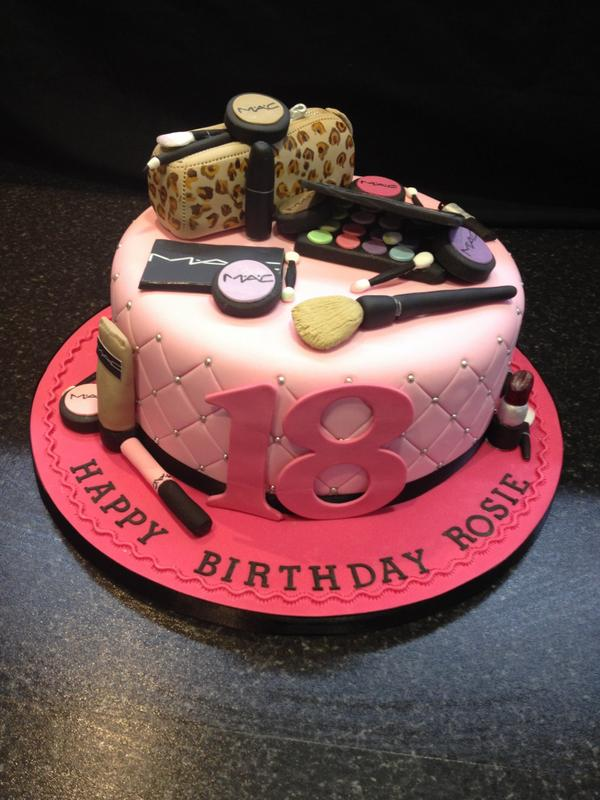 TFTCakes on Twitter 18th Cake for a girly girl who loves make up