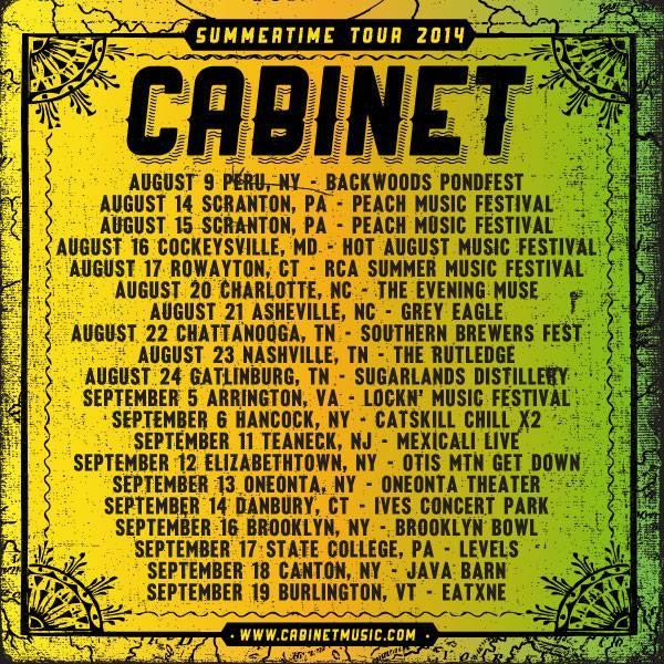 Cabinet Summertime Tour Prize Contest! Find details here: https://www.facebook.com/events/546388765463538/…