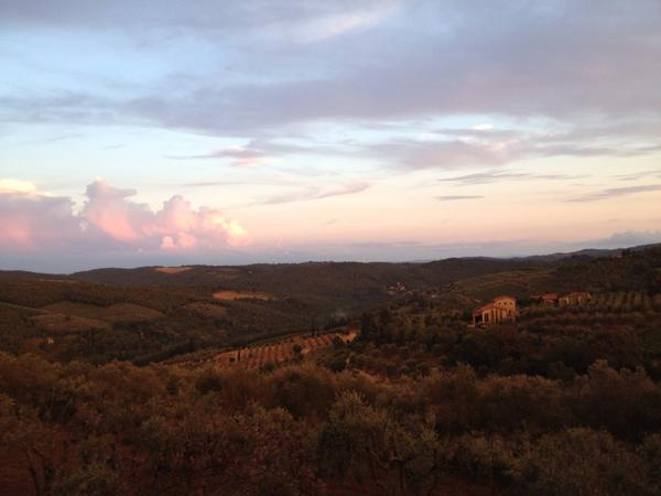 Dusk falls on #Tuscany tonight. http://t.co/tSHjPWe1Az